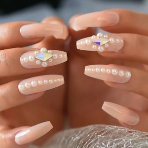 NWT coffin pearl nails